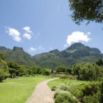 Achterkant Tafelberg in Kirstenbosch