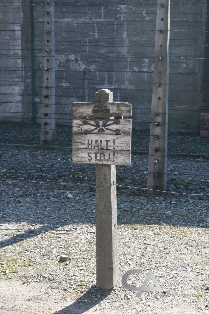 Overblijfsel van binnenhek, Auschwitz